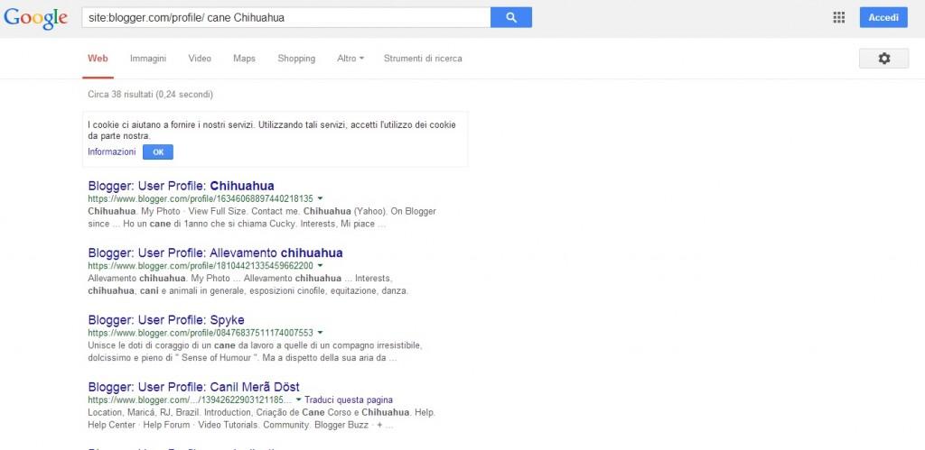 """Cerchiamo i blogs di blogger che contengono la parola """"Cane Chihuahua"""""""
