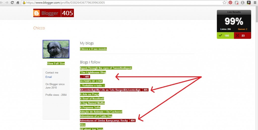 I blog con errore 404 a volte si possono registrare di nuovo